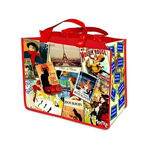 Bolsa grande con diseño de parches, color rojo