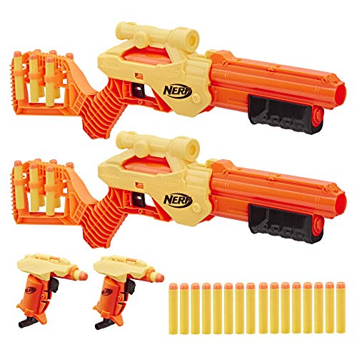 Nerf Alpha Strike Lynx SD-1 and Stinger SD-1 Multi-Pack, 4 Blasters and 26 Darts (Multicolour)