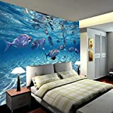 Fotomural Vinilo Pared Peces de acuario Fotomural para Paredes Mural Vinilo Decorativo 250x175cm Decoración comedores, Salones,Habitaciones