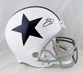 Emmitt Smith Signed Helmet - F S 60 63 TB Beckett Auth *Black - Beckett Authentication - Autographed NFL Helmets