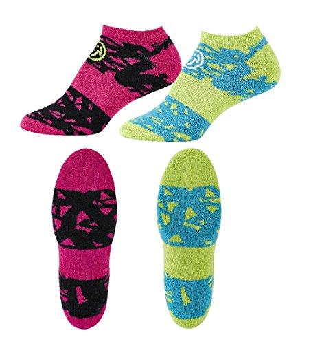 Zumba Socken 2er Set in kräftigen Farben,Sneaker, Socks für Fitness, Compression Socks, Outfit