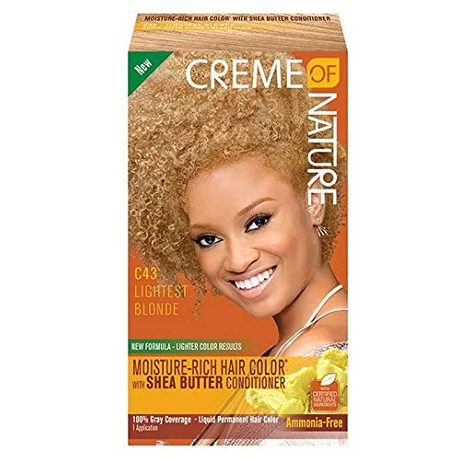 結婚北極圏警告する[Creme of Nature ] 自然液体ヘアカラー#43明るい金髪のクリーム - Creme of Nature Liquid Hair Colour #43 Light Blonde [並行輸入品]