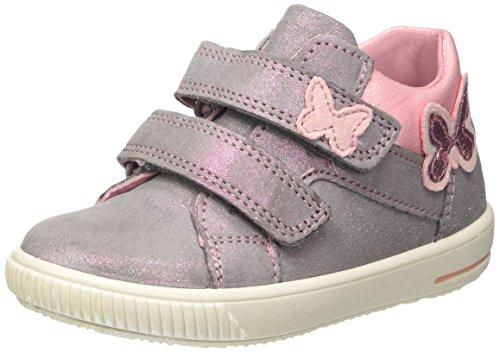 Superfit Baby Mädchen Moppy Sneaker, Grau (Smoke Kombi), 24 EU