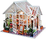 YUACY Puppen Haus Kit,DIY Puppenhaus Bausatz Mit MöBeln Miniatur-HüTte Handgemachte HüTte Mit Musik Modell Spielzeug