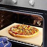 REIDEA Pizzastein Rechteckig, Schamottsteine für Backofen | Gasgrill | Grill,Ofen Brotbackstein Set...