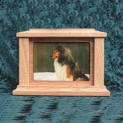 North cool Caja De Cenizas For Mascotas, Gato, Perro, Perro, Bambú, Cerdo, Conejo, Caja De Cenizas De Madera Maciza, Incinerada Y Enterrada (Color : Square)
