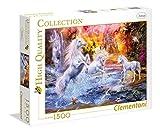 Clementoni- Puzzle 1500 Piezas Unicornios Salvajes (31805.6)