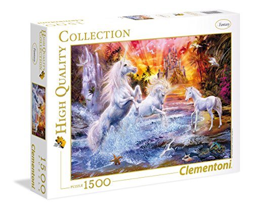 Clementoni- Wild Unicorns High Quality Collection Puzzle, 1500 Pezzi, 31805