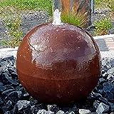 garten-wohnambiente Kugelbrunnen 28 cm Cortenstahl Roststahl Komplettset Kugel Wasserspiel