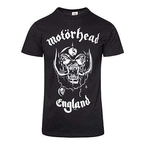 Motorhead Herren Band T-Shirt- England, Schwarz, XL