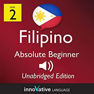 Learn Filipino: Level 2 Absolute Beginner Filipino, Volume 1: Lessons 1-25 audiobook cover art
