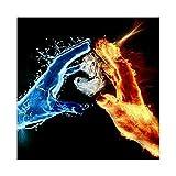 Sunnay Diamond Painting, Fußball Feuer 30x40cm 5D Diamant Stickerei Full Drill Phantom Schmetterlinge DIY Dekoration Malerei Kreuzstich Kit (Hand Love, 30x40cm)