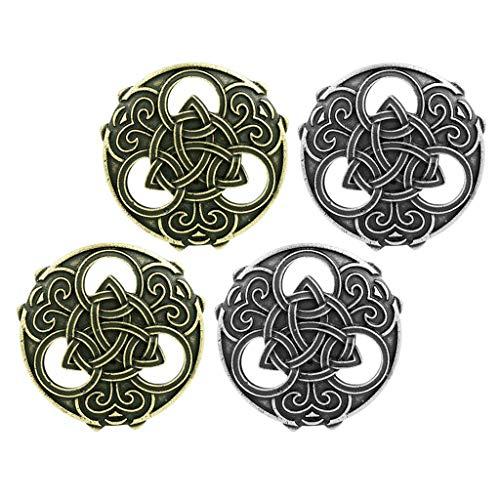 4 piezas vikingo capa pennanular nudo nórdico broche cierre de pasador nórdico