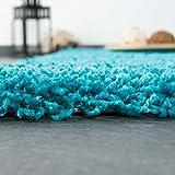 VIMODA Prime Shaggy Teppich Farbe Türkis Hochflor Langflor Teppiche Modern, Maße:160x220 cm - 4