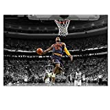 QWESFX Baloncesto Star Art Canvas Poster Print Sports Pictures Wall Picture Living Room Dormitorio Movie Posters Home Decor (Imprimir sin Marco) E 60x120CM