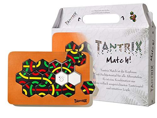 Tantrix Match-Taktisches Lege Puzzle, Schwarze Spielsteine