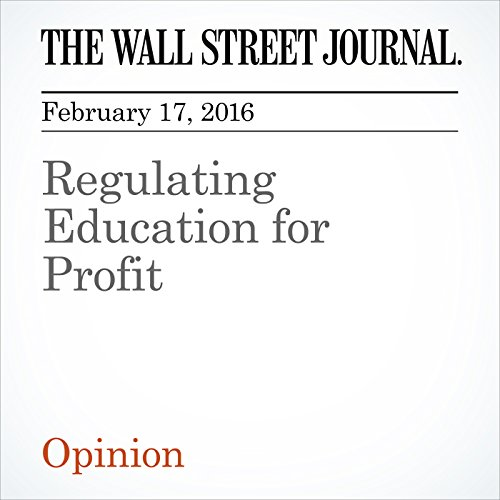 Regulating Education for Profit cover art
