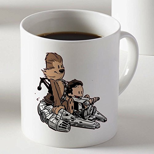 Calvin & Hobbes As Han Solo and Chewbacca Coffee Mug Two Sides by Mug