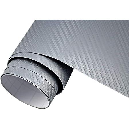 5 M2 Auto Folie 3d Carbon Folie Silber Blasenfrei 50 X 150 Cm Selbstklebend Blasenfrei Car Wrapping Klebefolie Auto