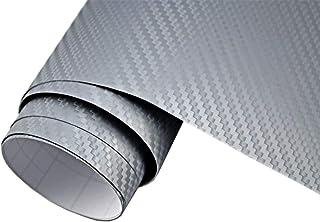 5€/m2 Auto Folie   3D Carbon Folie silber blasenfrei 100 x 150 cm selbstklebend BLASENFREI Car Wrapping Klebefolie