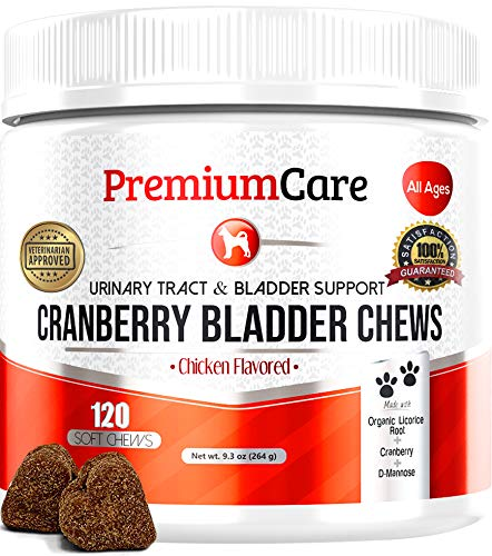 Cranberry For Dogs - Made In USA - Vet Approved - Cranberry Pills For Dogs Bladder Support No More Dog Antibiotics - Dog UTI Treatment Food - Bladder Infection Relief Urinary Tract Health