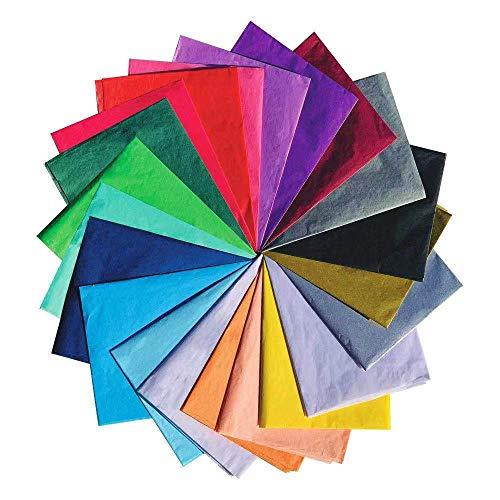 UNIQOOO Geschenkpapier, klassisch, Rot, Grün, Gold, Silber, Mix aus Seidenpapier, 50,8 x 66 cm, recycelbare Geschenkverpackung, perfekt für Urlaub, Strumpffüller, Weinflaschen, 120 Stück