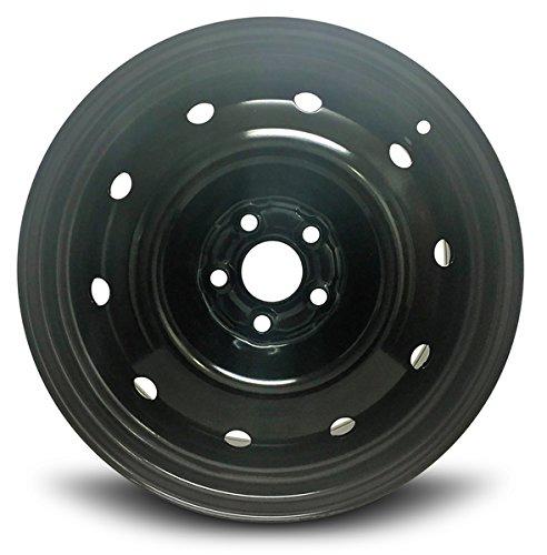 Road Ready Car Wheel for 2008-2011 Subaru Impreza 16 inch 5 Lug Black Steel Rim Fits R16 Tire - Exact OEM Replacement - Full-Size Spare