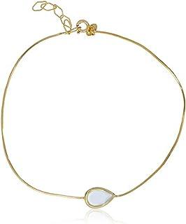 Córdoba Jewels | Tobillera en Plata de Ley 925 bañada en Oro. Diseño Rocio Oro Montana