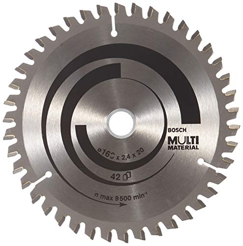 Lame de Scie Circulaire, 42 Dents, 20mm d'Alésage, 2.4mm Largeur de Coupe, 1.8mm Épaisseur du Corps, 160mm Diamètre