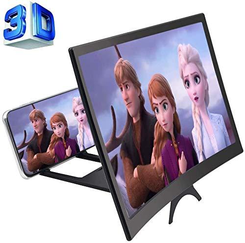 Manelord 12 '' 3D Telefon Bildschirmlupe, Bildschirm Verstärker, HD Bildschirmverstärker für Filme, Videos, Spiele