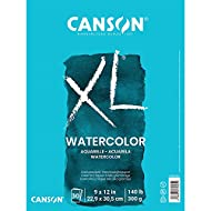 Canson 100510941 XL Series Watercolor Pad, 1 Pack, Multicolor