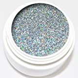 KM-Nails Diamant Glitter Gel extrem silber hologram 5ml