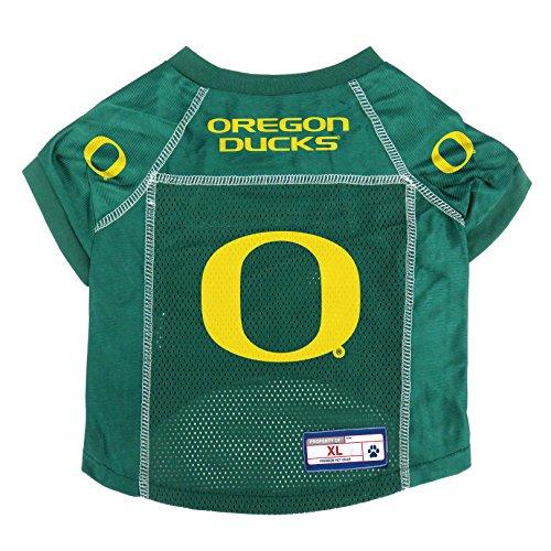 Littlearth NCAA Oregon Ducks Pet Jersey, XL, Team Color (120134-UOR-XL)
