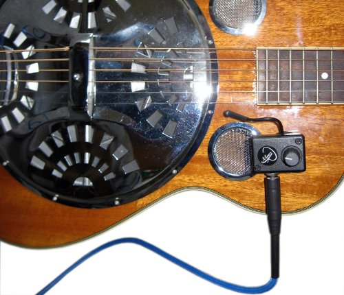National Resophonic Style O Resonator Guitar Pickup with Flexible Micro-Gooseneck by Myers Pickups