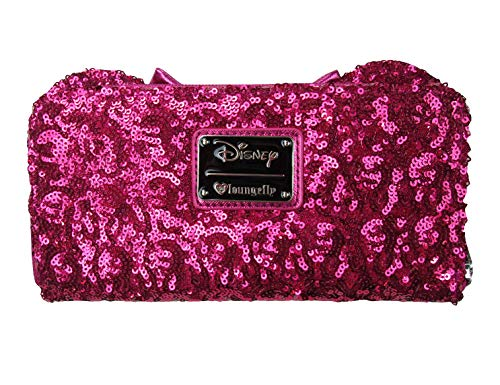 Loungefly Disney Minnie Mouse Pink Sequin Wallet