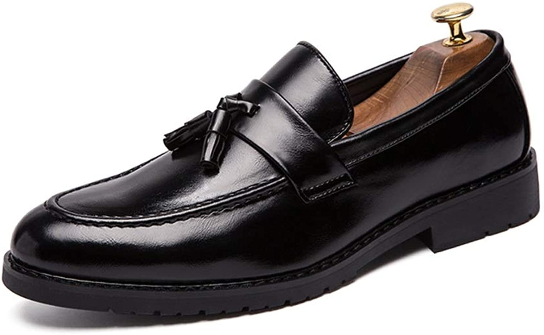 Herrenschuhe Business Oxford Oxford Oxford Casual Klassische Quaste Niedrige Top PU Leder Formelle Schuhe,Grille Schuhe (Farbe   Schwarz, Größe   43 EU)  733a35
