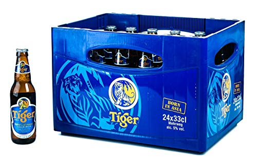 24 Flaschen Tiger Beer Asien a 0,33L Bier Tiger asian inc. 1.96€ MEHRWEG Pfand
