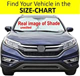 Windshield Sun Shade Exact Fit Size Chart for Cars Suv Trucks Minivans Sunshades