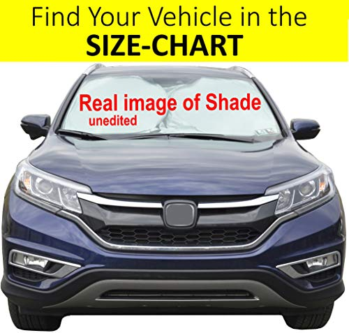 Windshield Sun Shade Exact-Fit Size Chart for Cars Suv Trucks Minivans Sunshades Keeps Your Vehicle Cool Heat Shield Medium