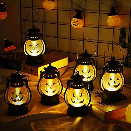 mreechan Linterna de Llama de Halloween 6 Piezas, Linterna de Calabaza de Halloween...