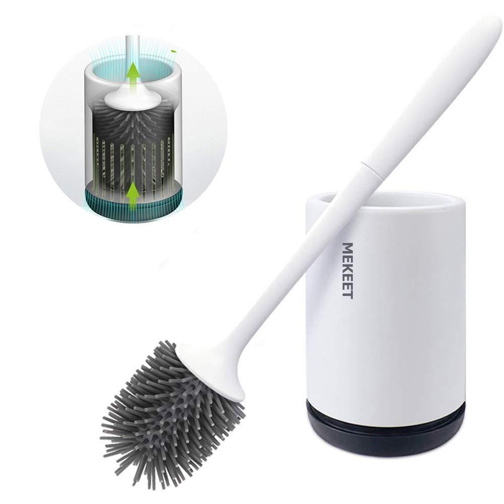 MEKEET Silicone Bristle Bathroom Cleaning