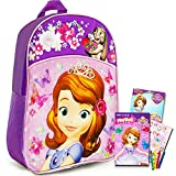 Disney Sofia the First Preschool Backpack Toddler (11') Travel Set with Coloring Book and Stickers