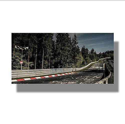 Ysurehom Nürburgring Rallye Straße Sportwagen Bahn Landschaft Wandkunst Poster Bilder Druck Leinwand Gemälde 1 Stück Wohnzimmer Home Decor-352x250cm