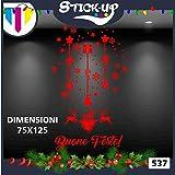 Stick-Up - Cristalería navideña para Ventanas de Navidad, vitrinas de Navidad para Tiendas, vitrinas de PVC, 80 Unidades, 5 Hojas