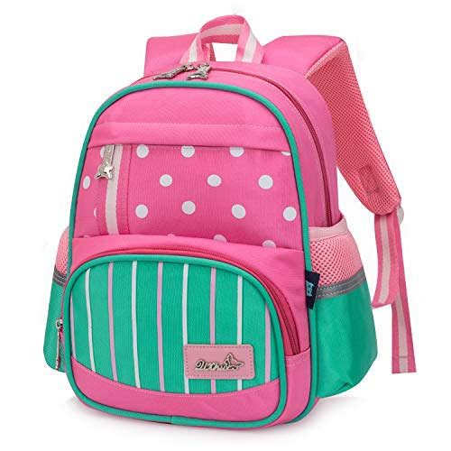 Wind Took Kinderrucksack Mini Backpack Kinder Schulrucksack Kindergartentasche Kleiner Tagesrucksack für Mädchen Jungen, Pink