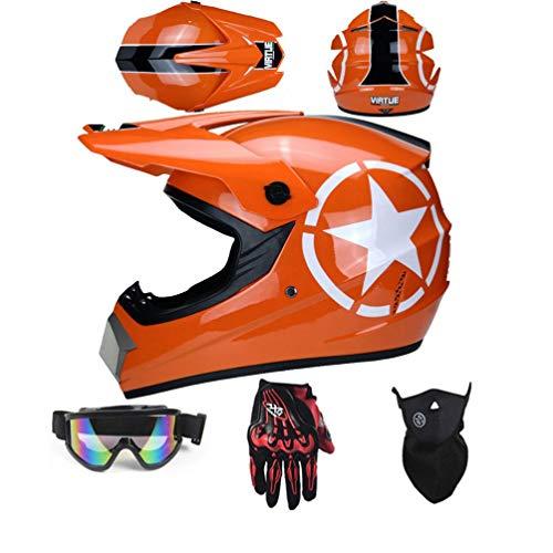 SK-LBB Casco de Motocross para Niños ATV ECE Homologado Hombre para A