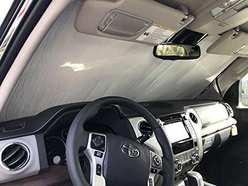 HeatShield, The Original Windshield Sun Shade, Custom-Fit for Toyota Tundra Truck (Crew Cab) 2018, 2019, 2020, 2021, Silver Series