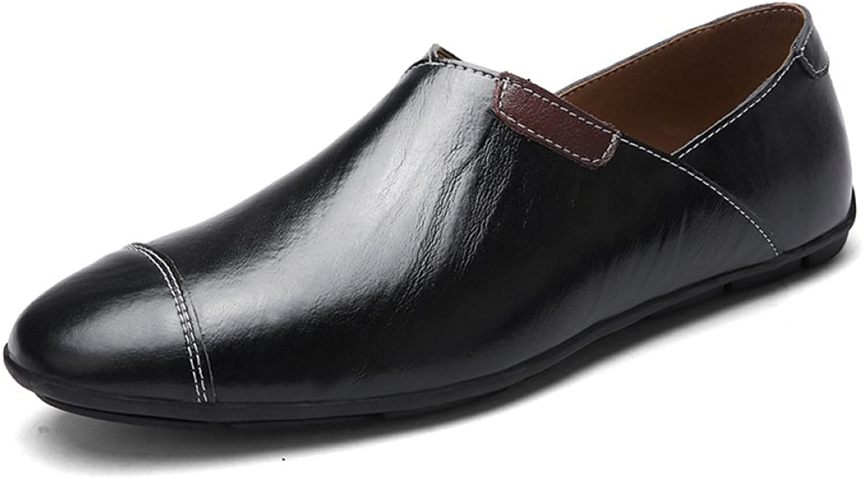 GTYMFH Herbst Lederschuhe Herren Erbsen Schuhe Freizeitschuhe Einzelne Schuhe Herrenschuhe