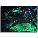 CELLYONE DIY color según números para adultos principiantes y niños (League of Legends Dementor Vino) decoración 50 x 40 cm