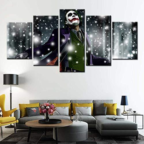 BailongXiao Pintura Moderna de la Lona Arte de la Pared Payaso póster de película café Sala de Estar decoración del hogar,Pintura sin marcoCJX3622-40x60cmx2, 40x80cmx2, 40x100cmx1
